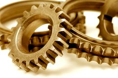 Golden gears Stock Photography