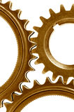 Golden gears arrangement Stock Image