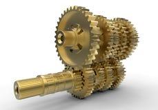Golden gears assembly stock illustration