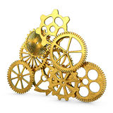 Golden gears Royalty Free Stock Images