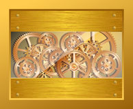 Golden gears Stock Images