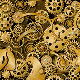 Golden Gears Pattern Royalty Free Stock Photo