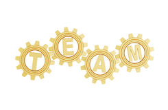 Golden gears with team Stock Photography