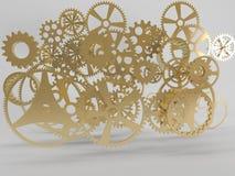 Golden Gears Stock Photos