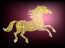 Golden gem horse Royalty Free Stock Images