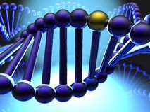 Golden gene in DNA Stock Images