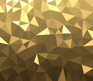 Golden geometric abstract background. Royalty Free Stock Photography
