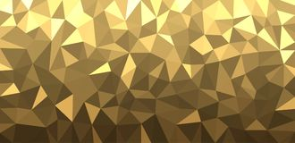 Golden geometric abstract banner. Stock Photo