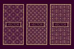 Golden geometric frames Stock Images