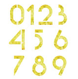 Golden geometric numbers Royalty Free Stock Image