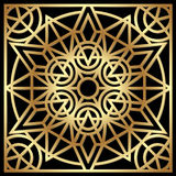 Golden geometric ornament Royalty Free Stock Photos