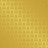 Golden geometric pattern with gradient - vector Royalty Free Stock Images
