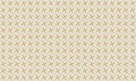 Golden geometric pattern, part 17. Seamless golden pattern with lines, rhombuses and geometric figures on the white background. Can use for wrapping paper vector illustration