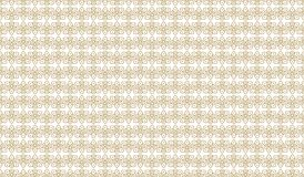 Golden geometric pattern, part 16. Seamless golden pattern with triangular outline figures and rhombuses on the white background. Can use for wrapping paper Royalty Free Illustration