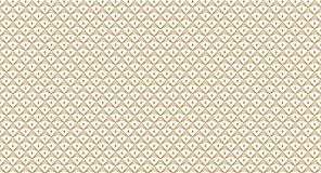 Golden geometric pattern, part 12. Seamless golden pattern with lines, rhombuses and geometric figures on the white background. Can use for wrapping paper Vector Illustration