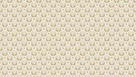 Golden geometric pattern, part 10. Seamless golden pattern with lines, circles and rhombuses on the white background. Can use for wrapping paper, textile and Stock Photos