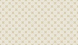 Golden Geometric Pattern 11v4, Increased. Seamless Golden Pattern with Elements of Line, Rhombuses, Triangles and Circles on White Background. Can Use for Stock Photography
