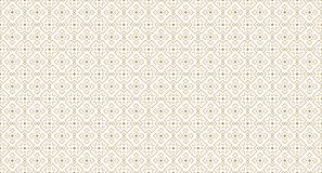 Golden Geometric Pattern 11v2, Increased. Seamless Golden Pattern with Angular Elements of Line and Painted Rhombuses on White Background. Can Use for Wrapping Stock Photos