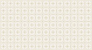 Golden Geometric Pattern 11v1, Increased. Seamless Golden Pattern with Angular Elements of Line and Painted Rhombuses on White Background. Can Use for Wrapping Stock Photography