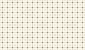 Golden Geometric Pattern 7v9, Increased. Seamless. Golden Pattern with Serif Lines, Rhombuses and Painted Circles on White Background. Can Use for Wrapping Stock Images