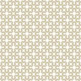 Golden geometric seamless pattern. White and gold floral ornament. stock illustration