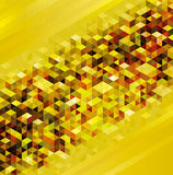 Golden Geometric Urban background. royalty free stock image