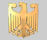 Golden German eagle Royalty Free Stock Images