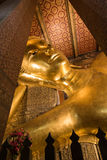 The Golden Giant Reclining Buddha in Wat Pho Buddhist Temple, Bangkok, Thailand Stock Images