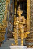 Golden giant security guard Stock Photos