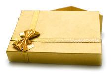 Golden gift Stock Images
