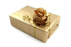 Golden gift. Stock Photo