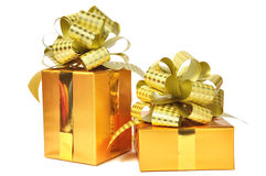 Golden gift Stock Photo
