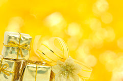 Golden gift Royalty Free Stock Photos