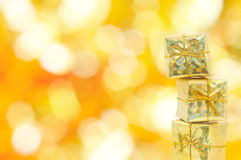 Golden gift Royalty Free Stock Photo