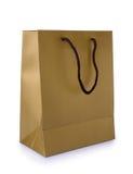 Golden gift bag Royalty Free Stock Photos