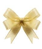 Golden gift bow Stock Photo