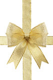Golden gift bow Stock Image