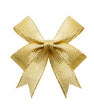 Golden gift bow Stock Images