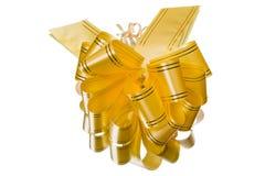 Golden gift bow Stock Photos