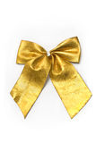 Golden gift bow ribbon Royalty Free Stock Photography
