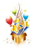 Golden gift box. Golden surprise gift box, eps10  illustration Stock Photography