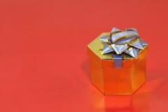 Golden gift box. Stock Images