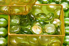 Golden gift box Stock Images