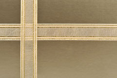 Golden gift box Royalty Free Stock Images