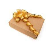Golden gift box i Stock Image