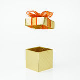Golden Gift Box Open Cover Royalty Free Stock Image