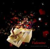 Golden Gift Box Stock Photography
