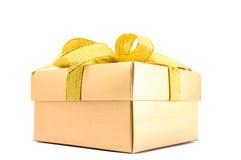 Golden Gift Box. Royalty Free Stock Image