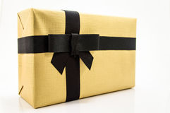 Golden gift box. Royalty Free Stock Image