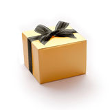 Golden Gift Boxes in Halloween concept. Royalty Free Stock Photo